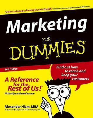 Marketing For Dummies, Hiam, Alexander, Good Book
