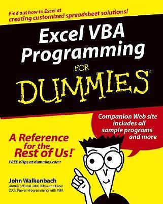 Excel VBA Programming For Dummies, Walkenbach, John, Good Book