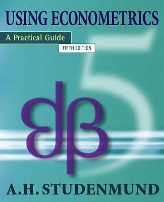 Using Econometrics: A Practical Guide (5th Edition), Studenmund, A.H., Good Book