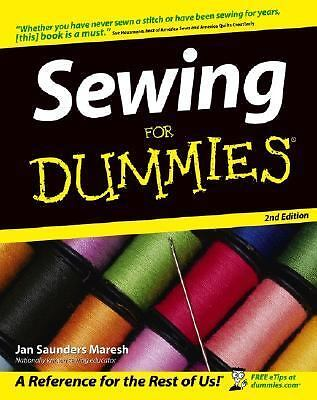 Sewing For Dummies, Saunders Maresh, Jan, Good Book