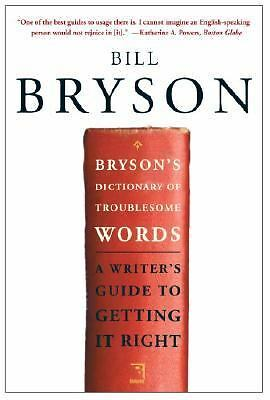 Bryson's Dictionary of Troublesome Words, Bill Bryson, Very Good Book