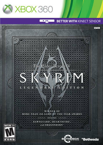 The Elder Scrolls V: Skyrim Legendary Edition  (Xbox 360, 2013)