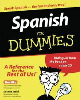 Spanish For Dummies - Susana Wald - Good Condition
