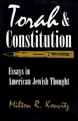 Torah and Constitution: Essays in American Jewish Thought (Modern Jewish Histor
