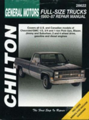 GM Full-Size Trucks, 1980-87 (Chilton Total Car Care Series Manuals), Chilton, A