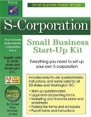 S-Corporation: Small Business Start-up Kit by Sitarz, Daniel