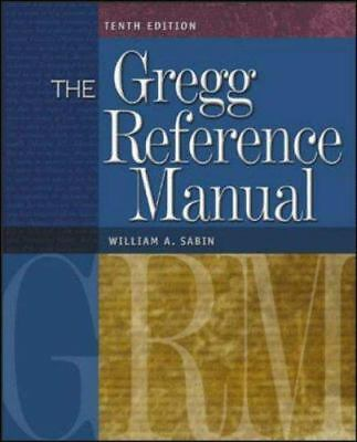 Gregg Reference Manual 10ed, Sabin, William, New Book