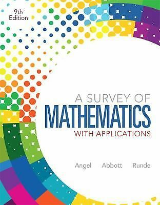 A Survey of Mathematics with Applications (9th Edition), Runde, Dennis C., Abbot
