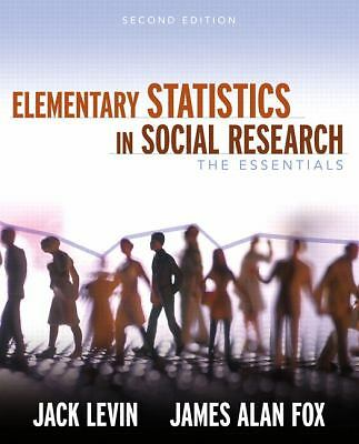 Elementary Statistics in Social Research: The Essentials (2nd Edition), Fox, Jam