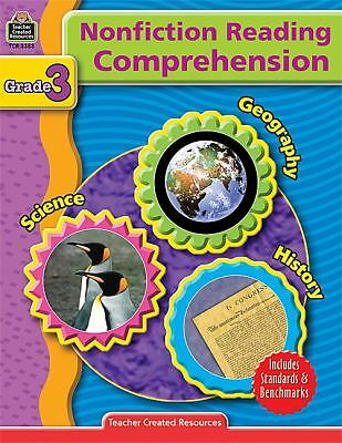 Nonfiction Reading Comprehension Grade 3, Teacher Created Resources Staff, Good