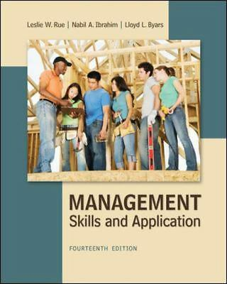 Management : Skills and Application TPB 14th Edition by Rue, Ibrahim and Byers