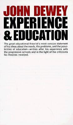 Experience And Education, Dewey, John, Good, Books
