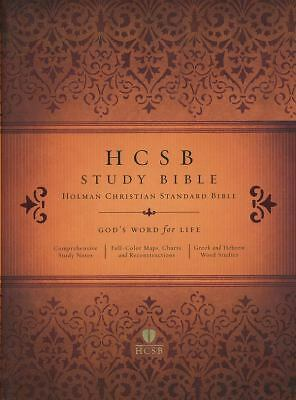 HCSB Study Bible, Jacketed Hardcover by