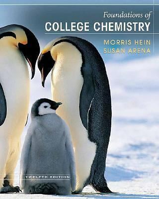 Foundations of College Chemistry, Arena, Susan, Hein, Morris, Good Book