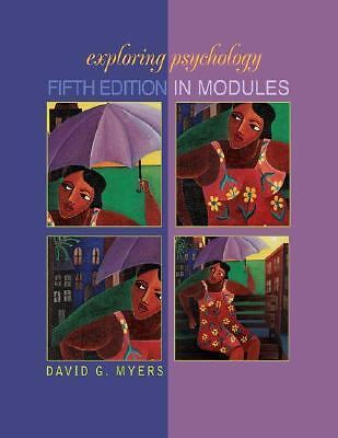 Exploring Psychology, Fifth Edition in Modules, Myers, David G., Acceptable Book