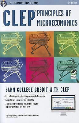 CLEP® Principles of Microeconomics Book + Online (CLEP Test Preparation) by Sat