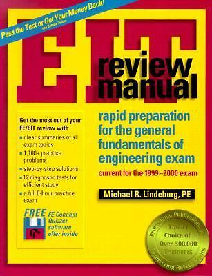 Eit Review Manual: Rapid Preparation for the General Fundamentals of Engineerin
