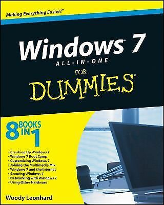 Windows 7 All-in-One For Dummies, Leonhard, Woody, Good Book