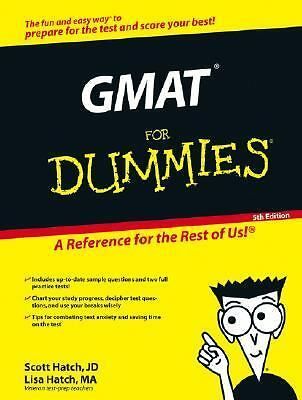 GMAT For Dummies, Hatch, Lisa Zimmer, Hatch, Scott, Acceptable Book