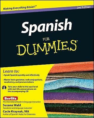 Spanish For Dummies - Kraynak, Cecie, Wald, Susana - Good Condition