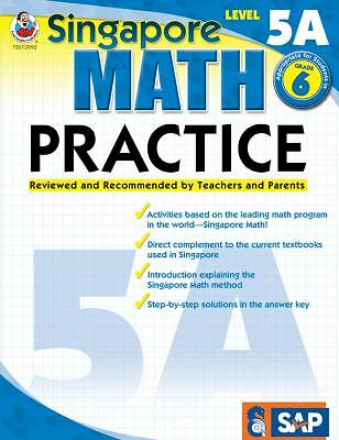 Singapore Math Practice, Level 5A, Grade 6 by