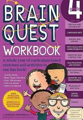 Brain Quest Workbook: Grade 4, Barbara Gregorich, Good Book
