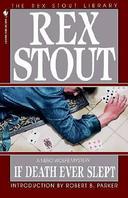 If Death Ever Slept (Nero Wolfe),Stout, Rex,  Good Book