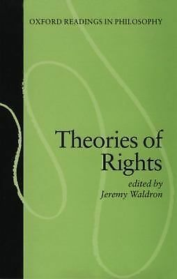 Theories of Rights (Oxford Readings in Philosophy), , Acceptable Book