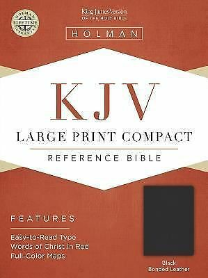 KJV Large Print Compact Bible, Black Bonded Leather by
