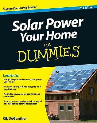Solar Power Your Home For Dummies, DeGunther, Rik, Acceptable Book