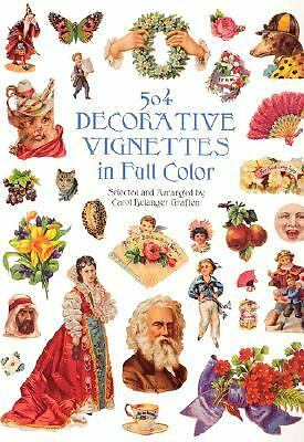 504 Decorative Vignettes in Full Color (Dover Pictorial Archives), , Good Book