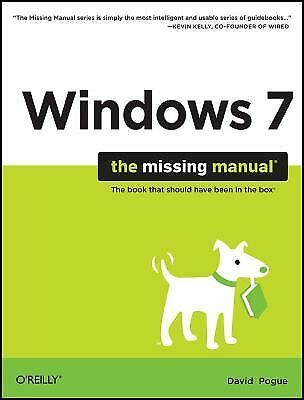 Windows 7: The Missing Manual, Pogue, David, Good Book