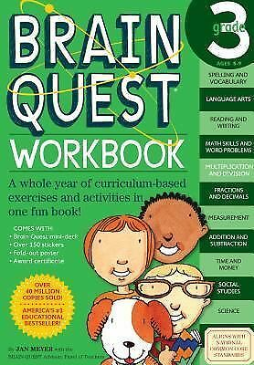 Brain Quest Workbook: Grade 3, Janet A. Meyer, Acceptable Book