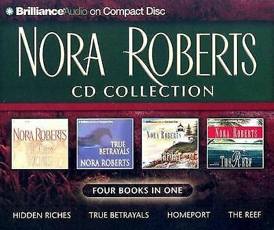 Nora Roberts CD Collection : Hidden Riches, True Betrayals, Homeport, The Reef,