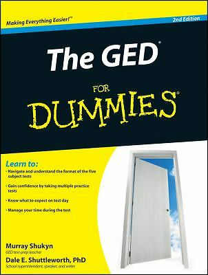 The GED For Dummies, Shuttleworth, Dale E., Shukyn, Murray, Good, Books