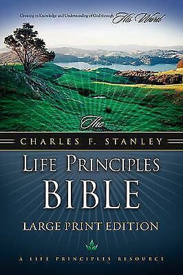 The Charles F. Stanley Life Principles Bible: Large Print Edition -  - Good Cond