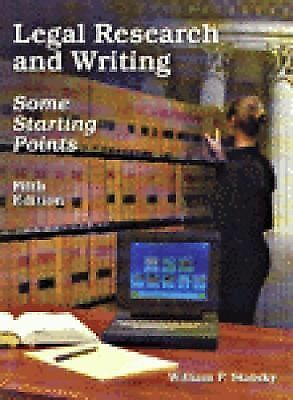 Legal Research and Writing (West Legal Studies), William P. Statsky, Good Book