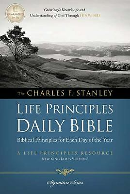 Charles F. Stanley Life Principles Daily Bible, NKJV (Signature Series), Thomas