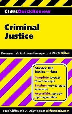 CliffsQuickReview Criminal Justice, Hoffman, Dennis, Good Book