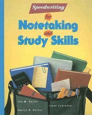 Speedwriting for Notetaking and Study Skills, Pullis,Joe, Good Book