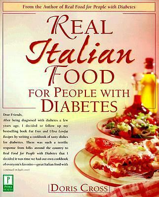 Real Italian Food for People with Diabetes, Cross, Doris, Acceptable Book