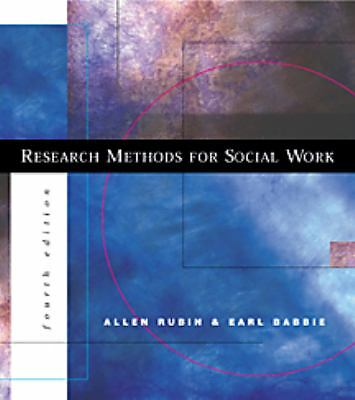 Research Methods for Social Work (with InfoTrac), Rubin, Allen, Good Book