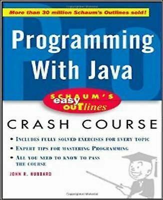 Schaum's Outline of Programming with Java, Hubbard, John, Acceptable Book