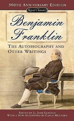 The Autobiography and Other Writings,Franklin, Benjamin,  Acceptable  Book