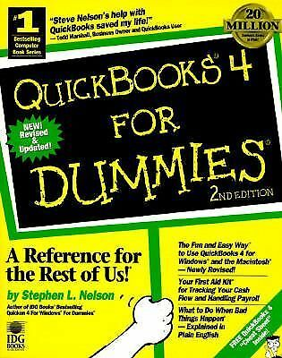 Quickbooks 4 for Dummies, Nelson, Stephen L., Good Book