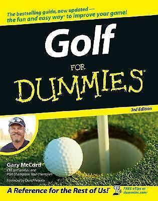 Golf For Dummies, McCord, Good Book