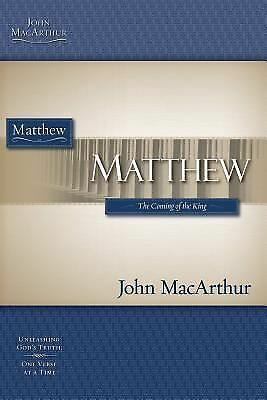 Matthew (MacArthur Bible Studies), MacArthur, John, Good Book