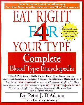 Eat Right For Your Type - Complete Blood Type Encyclopedia, Peter D'Adamo, Good
