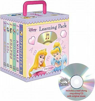 Disney Princess Learning 6- books Travel Pack (with audio CD and carrying case)
