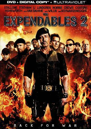 The Expendables 2 [DVD + Digital Copy + UltraViolet], Good DVD, Bruce Willis, Ar